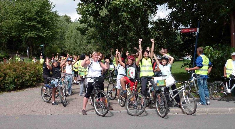pause ralliement pendant la rando vélo